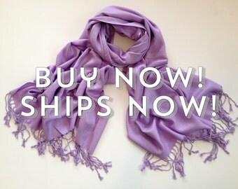 Pashmina scarf, Lavender shawl, Lavender scarf, Lavender pashmina