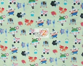 100% Cotton Fabric By Windham Fabrics - Mother Goose Tales Green - Sold By The Yard (FH-2404)