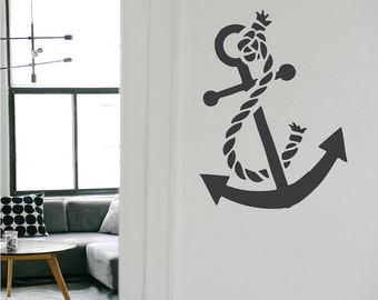 Anchor Wall Decal, Anchor Vinyl Sticker, Anchor Murals, Anchor Wall Art, Anchor Abstract, a06