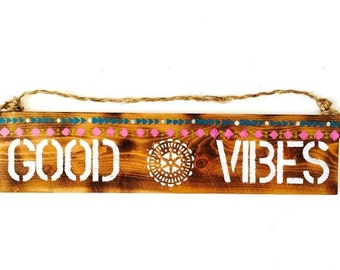 FLASHSALE Good Vibes Sign / Sea Gypsy California
