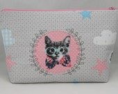 Kitten and deer toiletry pouch