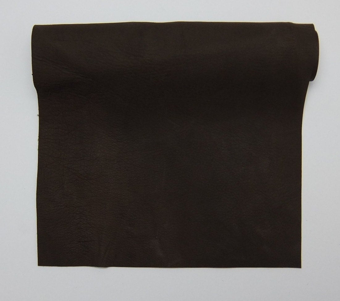 Chocolate tanned deerskin leather perfect for handbags for Leather sheets for crafting