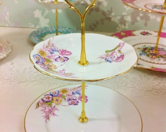2 Tier Hand Painted Cake Stand