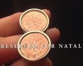 Cufflinks reserved for Natalie in Washington