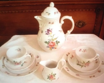 German Bavaria coffee/tea set for two cup & saucer dessert plate