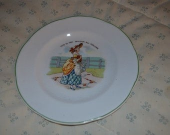 Antique English Comical Plate
