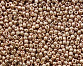 11/0 Miyuki Duracoat Galvanized Champagne Seed Beads - 10 grams - 4944- Miyuki 11-4204 Duracoat Galvanized Champagne 11/0 Seed Beads