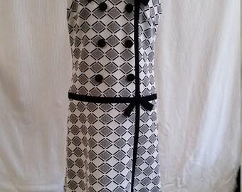very cute 1960's drop waist dress