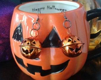 Cute Jack-o-Lantern Earrings Goth Goth Halloween Pumpkin Creepy Cute