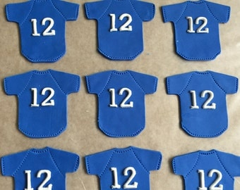 Softball / Baseball Fondant Cupcake Toppers ~ 6