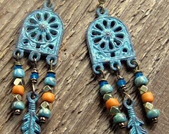 Cathedral Window Earrings Bohemian Jewelry