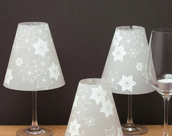 THE STERNENHELENE - 3 wine glass lamp shades