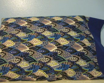 Leaves in Blues/pillowcase
