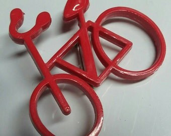 Was 5.45!  Vintage Red Bicycle Brooch or Pin