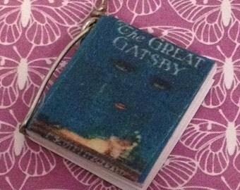 Great Gatsby Mini Book Charm