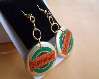 Handmade Bottle Cap Earrings w Free Shipping