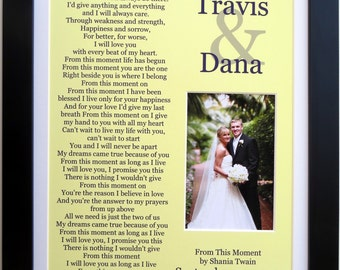 Happy Anniversary Personalized Wedding Song Lyrics, Paper Anniversary Gift For Him For Her First 1st Anniversary Photo Custom Couple Present