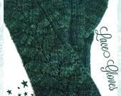 Teal Fingerless Gloves Merino Wool Malabrigo Rios Solis Yarn Long Stretchy Soft