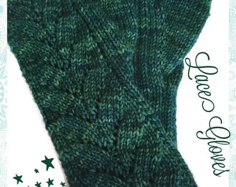 Teal Fingerless Gloves Merino Wool Malabrigo Rios Solis Yarn Long Stretchy Soft