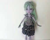 Gothic Lolita Outfit for Small Monster Highschool Doll