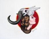 White Buffalo Prisma Colored Pencil Portrait: One of a Kind Reese Hilburn Art