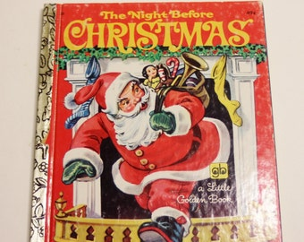 The Night Beore Christmas 1977 version A Little Golden Book - Children's Book, Story Book, Christmas Book