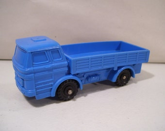 Vintage Imperial 1975 Mercedes Blue Hard Rubber Flatbed Truck Toy, Hong Kong