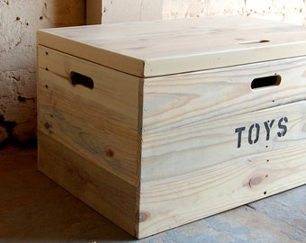Wooden Crate/ Coffee Table/ Toy Chest/ Large Storage Box/ Red Mahogany & Distressed Wooden Crate Rolling Toy Chest/ Large Storage Aboutintivar.Com