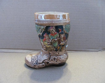 Porcelain pottery boot 5 inches high