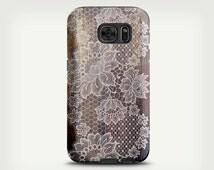 Vintage Lace Art Case , Samsung Galaxy S6 Case , Wood Galaxy S5 Case , Phone Cover , Unique Galaxy S7 Case , Samsung Galaxy S7 Edge Case
