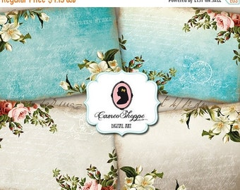 75% OFF SALE SHABBY Roses 02 Digital Collage Sheet Aceo Digital Collage Digital Download
