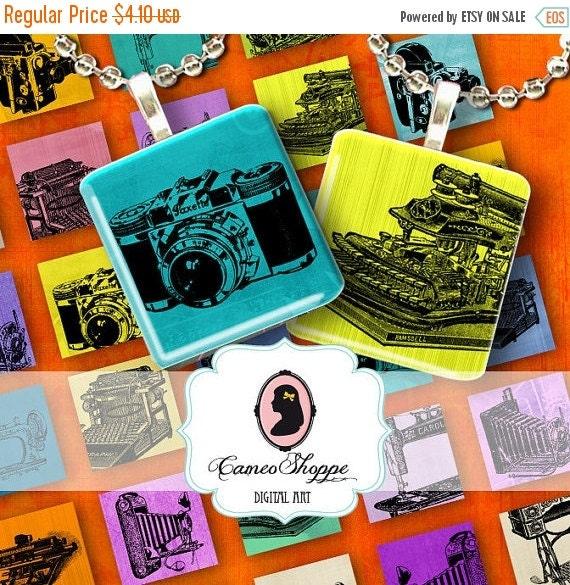 75% OFF SALE MODERN Ephemera 1 inch square Digital Collage Sheet Digital Download