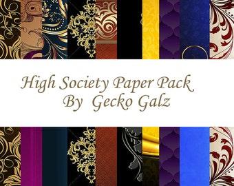 High Society Digital Paper Pack