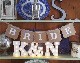 Bride cardstock banner