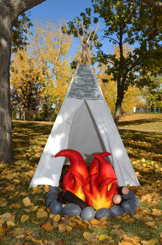 Diy kit for the inferno not stitched felt campfire from