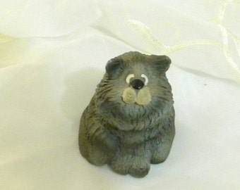 ON SALE Kathleen Kelly Critter Factory Resin Cat Figurine, Russ, Home Decor, Collectible