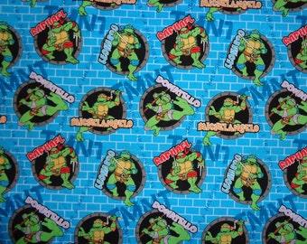Blue Teenage Muntant Ninja Turtle Cotton Fabric by the Yard