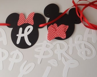 DIY Minnie Birthday Banner Kit with Fancy Font and Optional Custom Name by FeistyFarmersWife