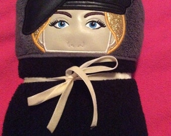 Soldier hooded towels