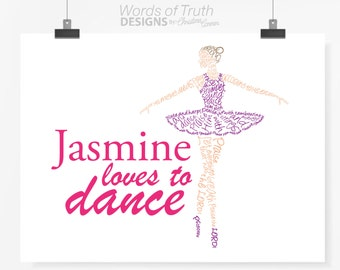 Personalized and Customizable Ballerina - Dance - Scripture Psalm 150