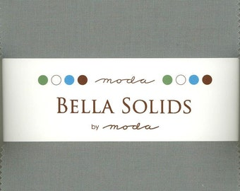Bella Solids Steel Charm Pack, Set of 42 5-inch Precut Cotton Fabric Squares (9900PP-184)