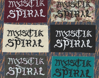 Mystik Spiral, Daria-Inspired, Screen-Printed Patch
