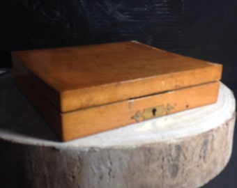Antique woodeb box for stamps