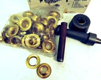 Vintage Brass Grommet Kit Canvas Leather Grommet Kit