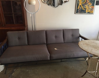 Mid Century Metal Frame Sofa