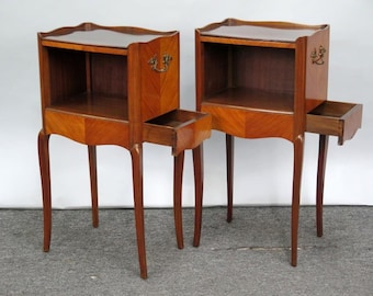 Pair Vintage French Side Tables SALE