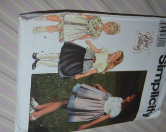 Simplicity 7144  Rare Editions Childs Dress sewing Pattern -  UNCUT - sizes 2 3 4