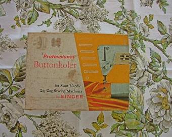 Vintage Singer Profesional Buttonholer