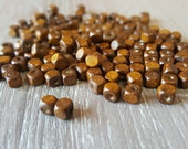 WOOD BEADS 100pcs 4x4mm Cube Bevel,Brown Wood Beads,Wood Square Beads