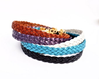 Braided Leather Chokers
